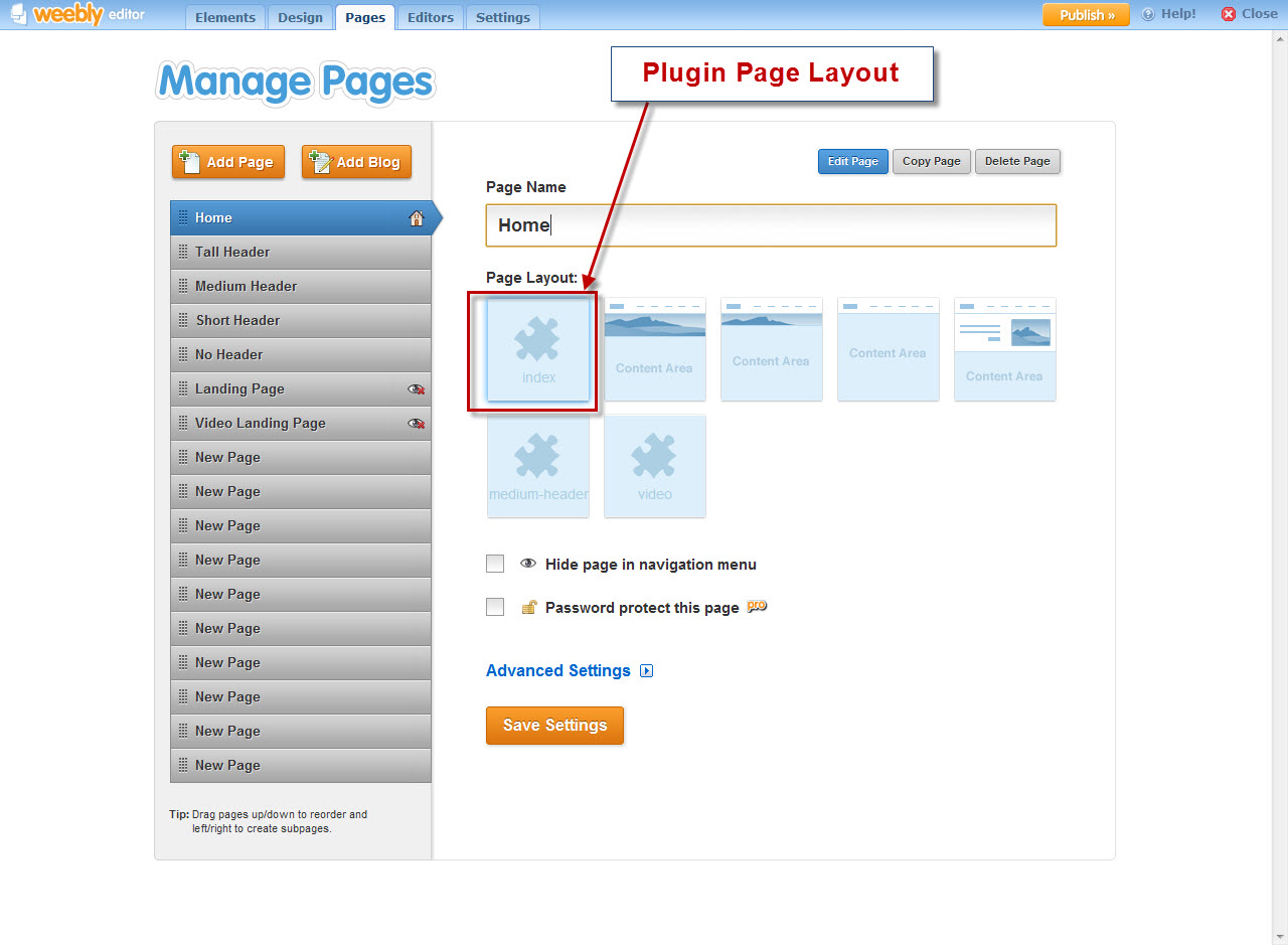 DivTag Weebly Plugin - Why is the plugin not showing?