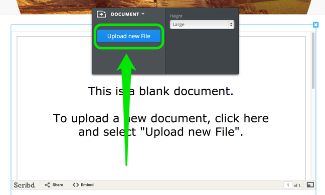 How to display PDF, excel and other doc in Weebly